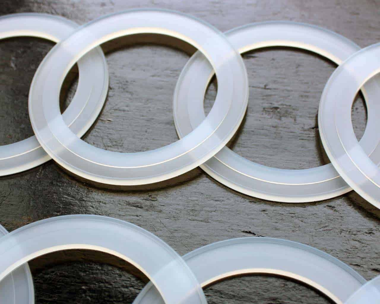 Silicone sealing rings seals gaskets for plastic Ball Mason jar lids ...