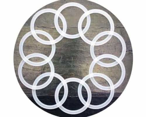 Silicone sealing rings seals gaskets for plastic Ball Mason jar lids caps wide mouth 10 pack