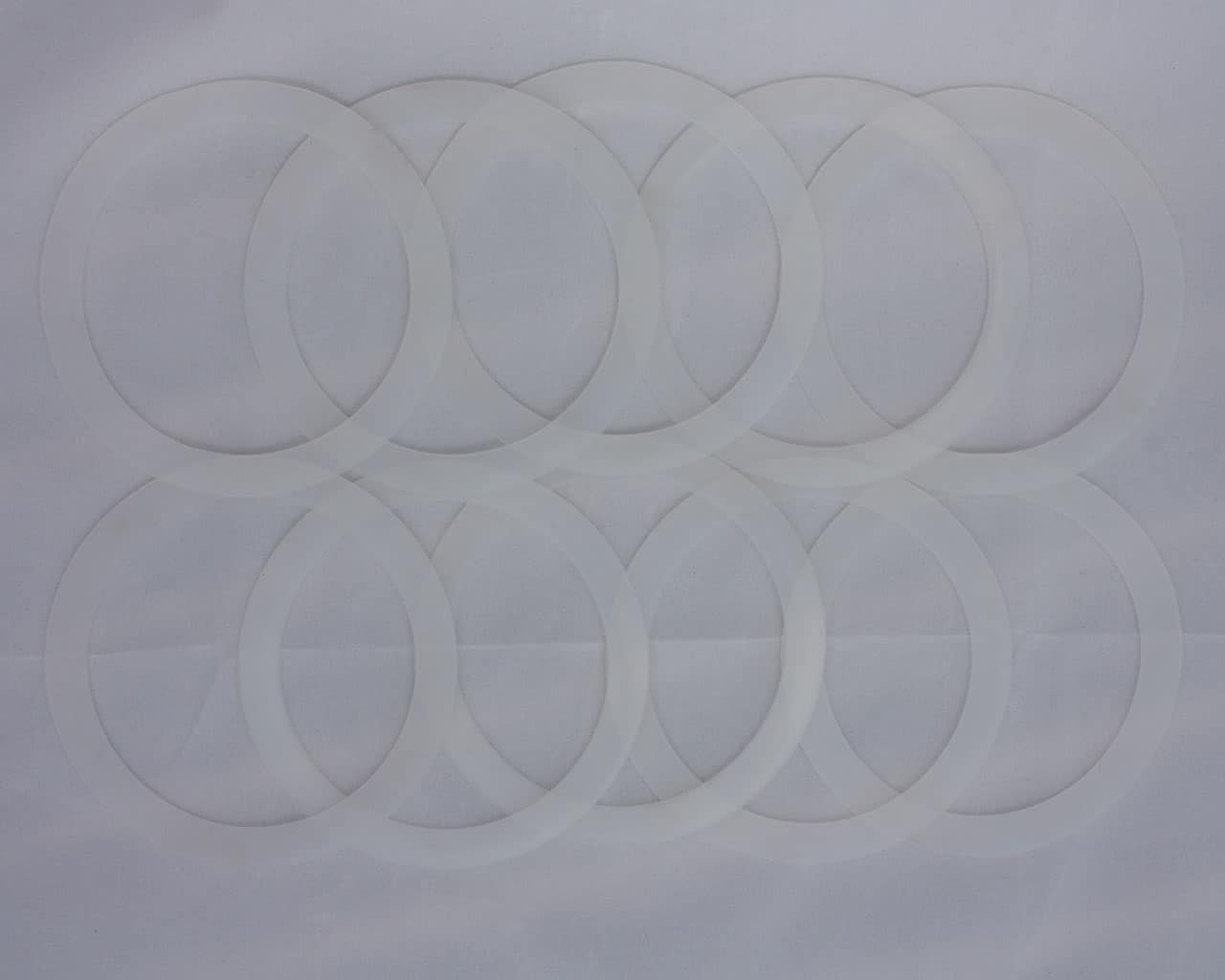 Leak Proof Silicone Sealing Rings Seals For Ball Plastic Caps