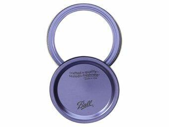 Ball purple lid and band for regular mouth Mason jars