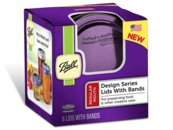 Ball purple lids and bands for regular mouth Mason jars