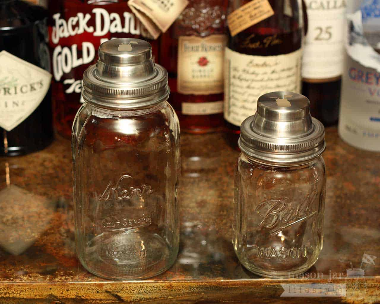 Cocktail Shaker Lid With Silicone Seals For Mason Jars