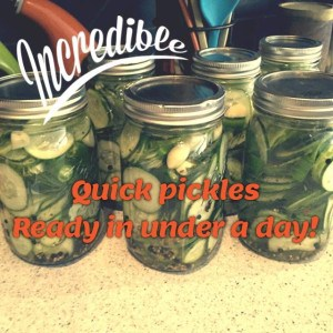 Incredible quick pickles - ready in under a day!