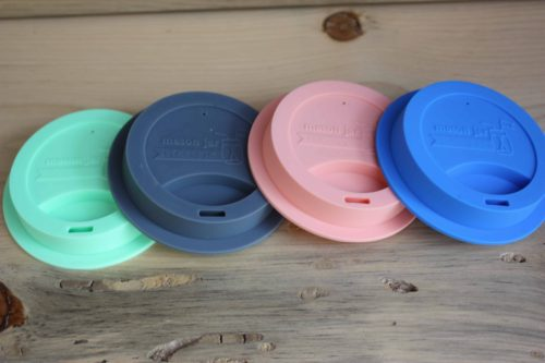 Mason Jar Lifestyle silicone drinking lids for wide mouth jars