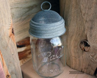 Galvanized mesh dome lid for regular mouth Mason jars