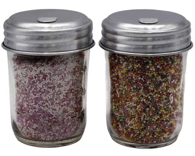mason-jar-lifestyle-sugar-lid-aluminum-retro-diner-regular-mouth-ball-kerr-8oz-half-pint-mason-jars-sprinkles-cake-decorate-candy-sugar-cupcake