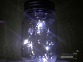 Mason jar solar light lid - Angel tears - 5 LED lights on a string
