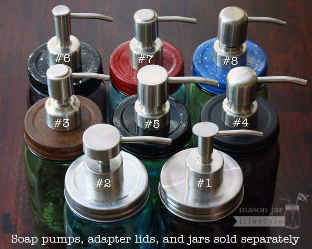 8 Styles Of Brushed Satin Finish Stainless Steel Soap Pump