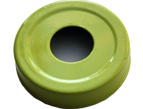 Glossy enameled green soap pump dispenser lid adapter for regular mouth Mason jars