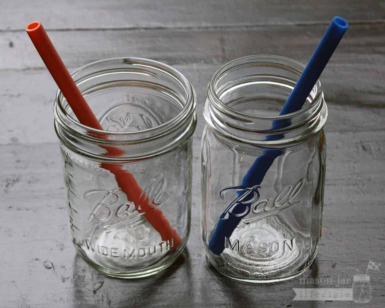 Silicone Reusable Straws For Pint Mason Jars 8 Pack
