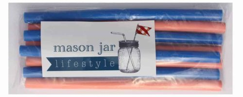 Silicone straws for pint Mason jars 8 pack in package