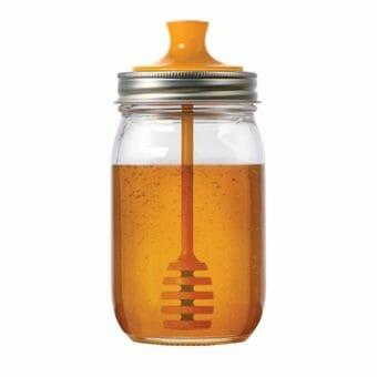 Jarware honey dipper for regular mouth Mason jars