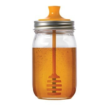 Jarware honey dipper for regular mouth Mason jars