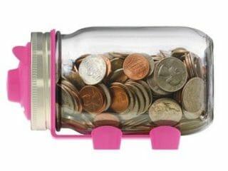 Jarware piggy bank for regular mouth Mason jars