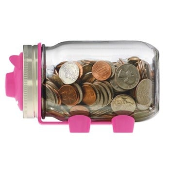Jarware piggy bank for regular mouth Mason jars