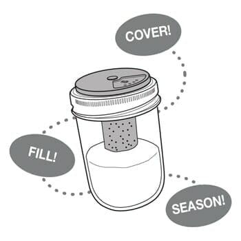 Jarware salt and pepper shaker for regular mouth Mason jars