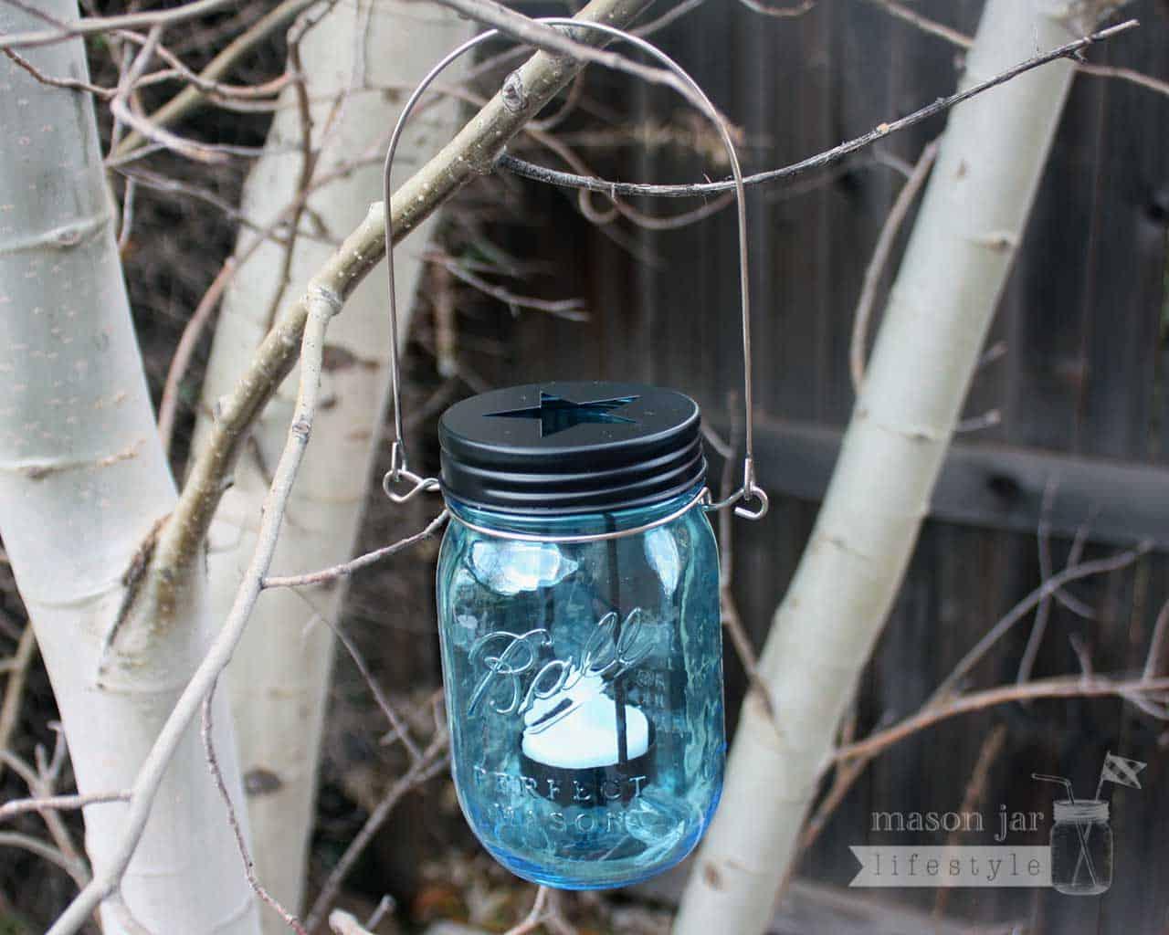 ... Star Cutout Tea Light Candle Holder Lid for Regular Mouth Mason Jars
