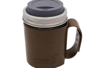 Faux Leather Travel Mug