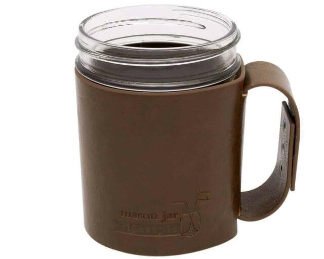 holder mug leather
