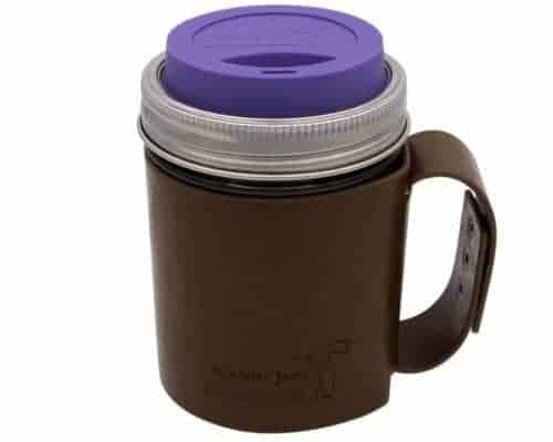 mason-jar-lifestyle-faux-leather-holder-travel-mug-handle-wide-mouth-ultra-violet-silicone-drinking-lid-pint-16oz-ball-mason-jar