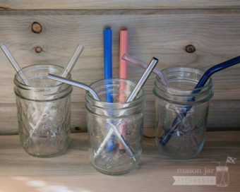 Mason Jar Lifestyle short reusable straws for kids and cocktails - stainless steel, glass, and silicone