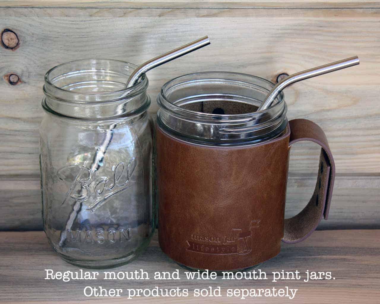 Medium Thin Bent Stainless Steel Straw For Pint Mason Jars