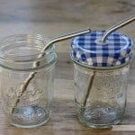 Short thin bent stainless steel straws for half pint Mason jars, small cups, kids, and cocktails