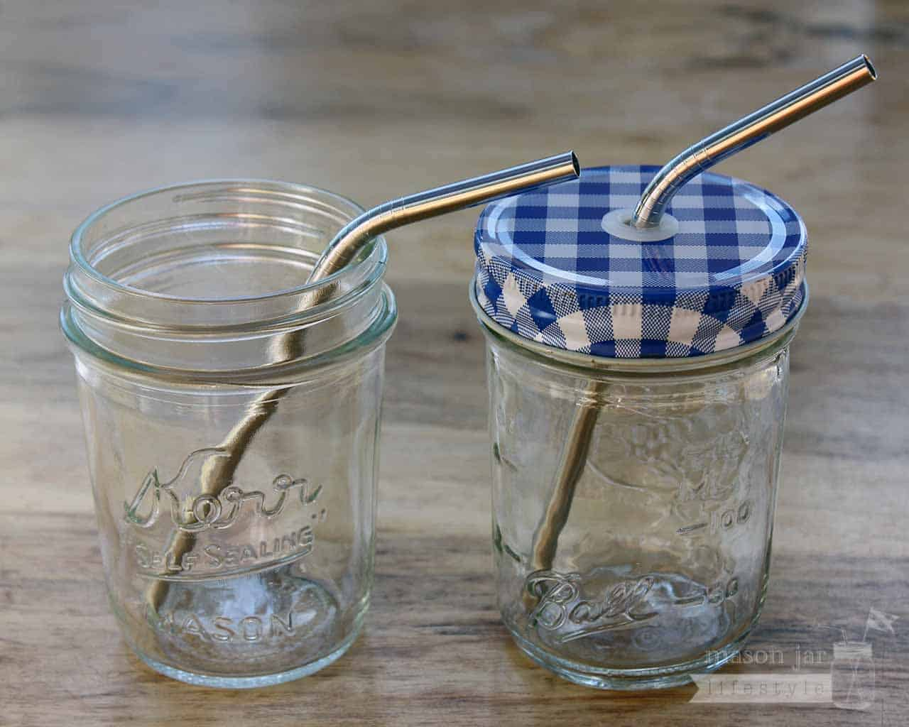 ... steel straws for half pint Mason jars, small cups, kids, and cocktails