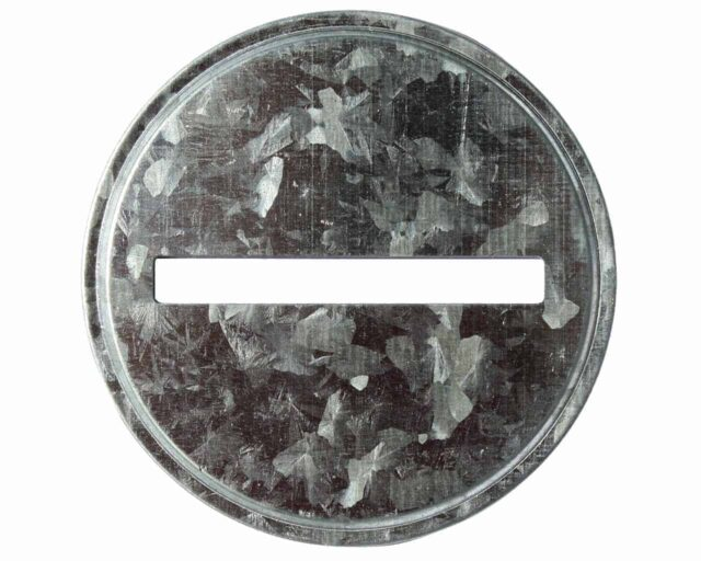 Galvanized coin slot bank lid insert for wide mouth Mason jars