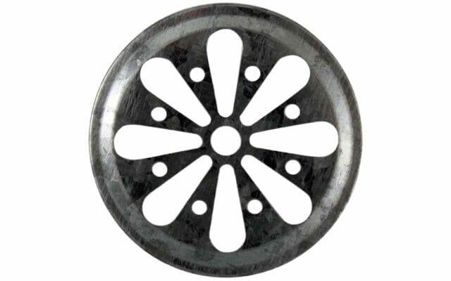 Galvanized metal daisy flower cut lid insert for regular mouth Mason jars