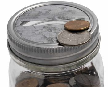 mason-jar-lifestyle-galvanized-coin-slot-bank-lid-insert-stainless-steel-band-regular-mouth-ball-mason-jar-coins-closeup