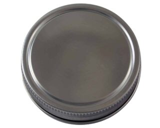 Stainless steel storage lid cap for regular mouth Mason jars