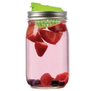 Jarware fruit infusion lid for regular mouth Mason jars