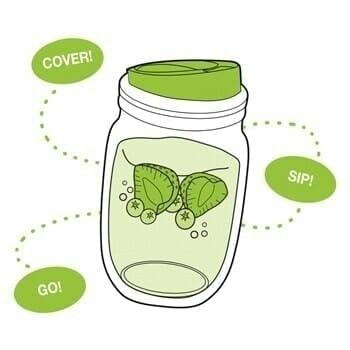 Jarware fruit infusion lid for regular mouth Mason jars