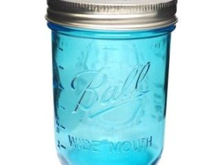 Ball Collection Elite Blue Wide Mouth Pint 16oz Mason Jar