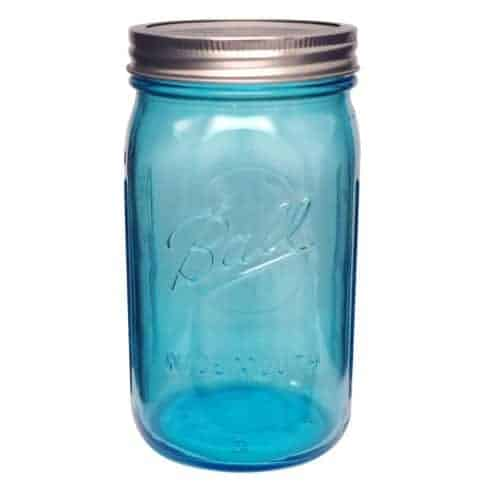 Ball Collection Elite Blue Wide Mouth Quart 32oz Mason Jar