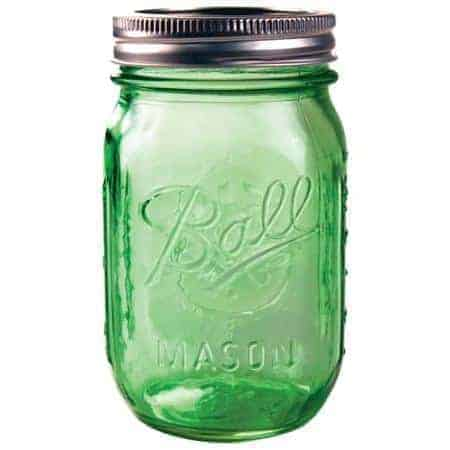 Ball Heritage green regular mouth pint jar