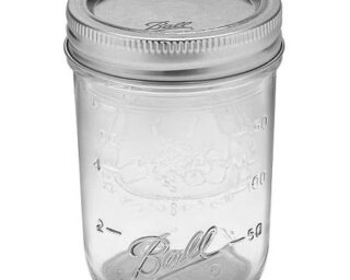 Ball regular mouth half pint Mason jar
