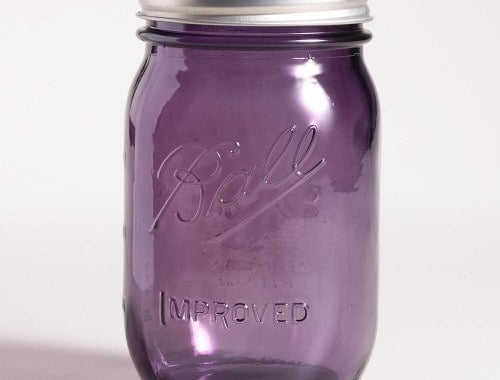 Ball Heritage purple regular mouth pint jar