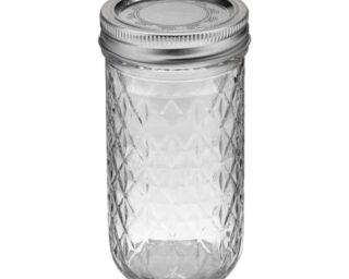Ball quilted 12oz jelly Mason jar