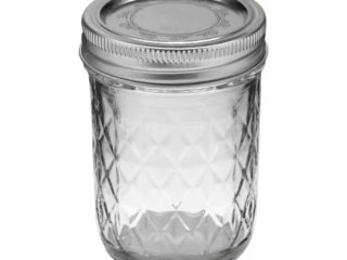 Ball quilted half pint jelly Mason jar