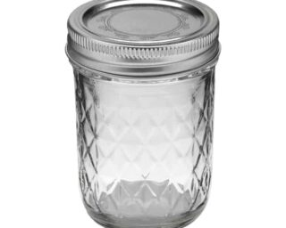 Ball quilted half pint jelly Mason jar
