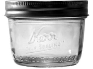 Kerr wide mouth half pint Mason jar