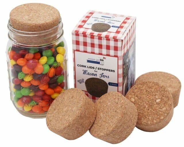 Regular Mouth Cork Stopper Storage Lid for Mason Jars