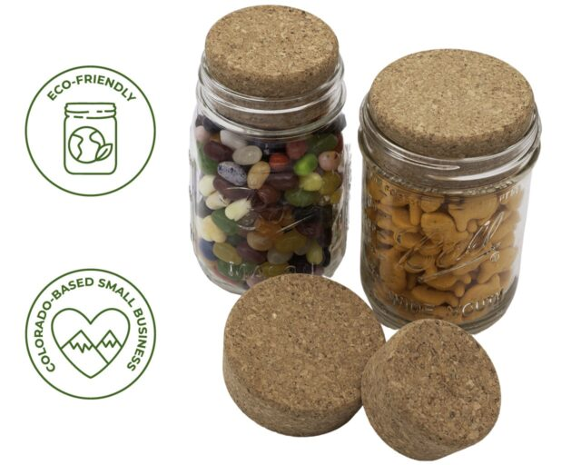 Cork Stopper Storage Lid for Regular and Wide Mouth Mason Jars