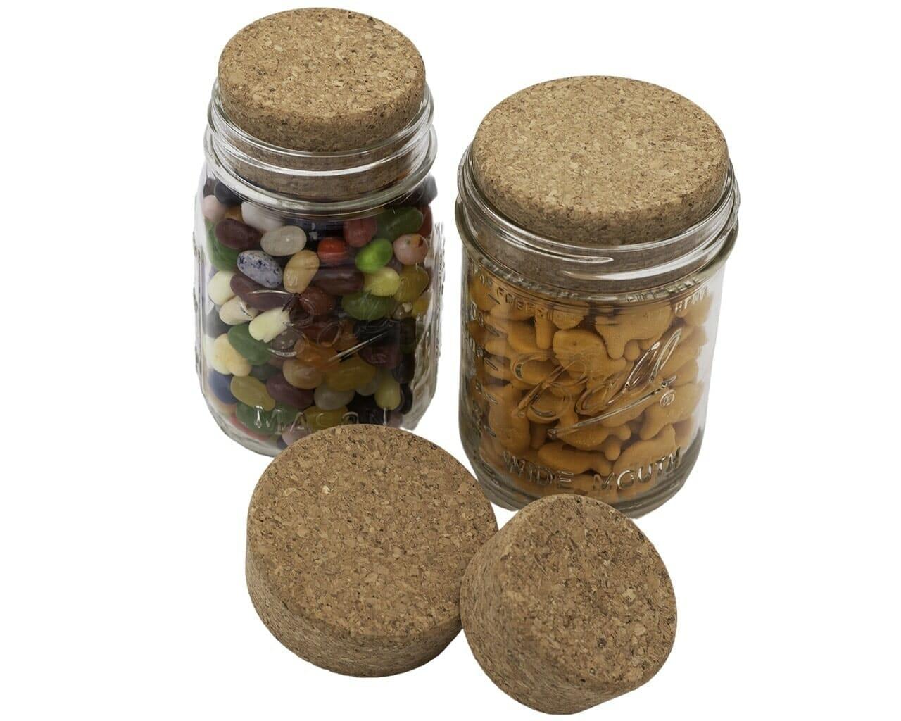 mason jar lifestyle cork lid cap stopper regular wide mouth ball kerr mason jars candy goldfish crackers