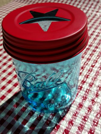 This matte red star lid for wide mouth Mason jars will make your jar pop!