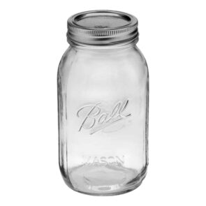 Ball regular mouth quart Mason jar