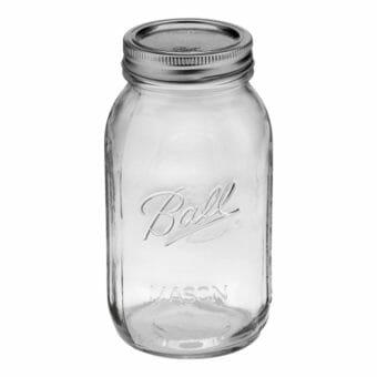 Ball regular mouth quart Mason jar
