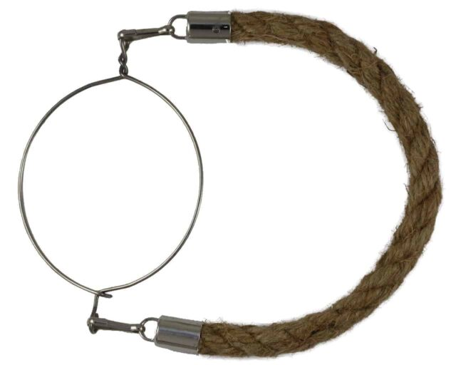 Thick jute rope handle for wide mouth Mason jars